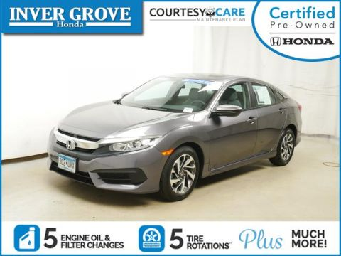 Certified Pre-Owned 2016 Honda Civic 4dr CVT EX