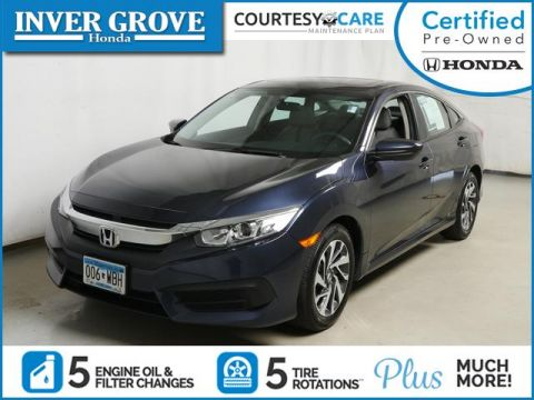 Certified Pre-Owned 2016 Honda Civic Sedan 4dr CVT EX
