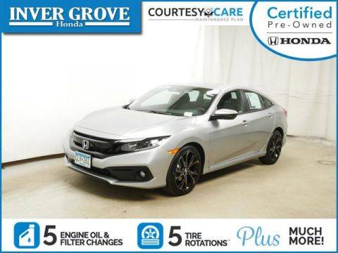 Certified Pre-Owned 2019 Honda Civic Sport CVT