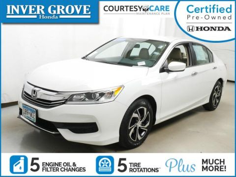 Certified Pre-Owned 2017 Honda Accord Sedan LX CVT